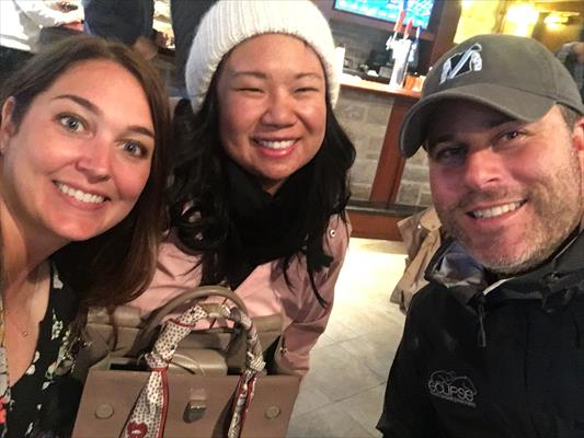 Kelsey Marshall Vice President - Partner Relations (left) Su-Ann (middle) & Aron Wellman (left) at the Keenland September Sale